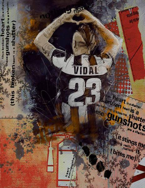 Italian Football Wall Art - Painting - Arturo Vidal - C by Corporate Art Task Force