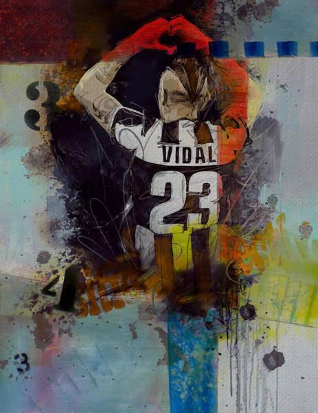 Italian Football Wall Art - Painting - Arturo Vidal - D by Corporate Art Task Force