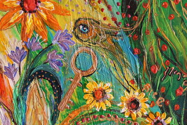 Wall Art - Painting - Artwork Fragment 101 by Elena Kotliarker