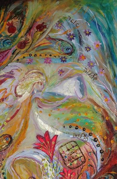 Wall Art - Painting - Artwork Fragment 17 by Elena Kotliarker