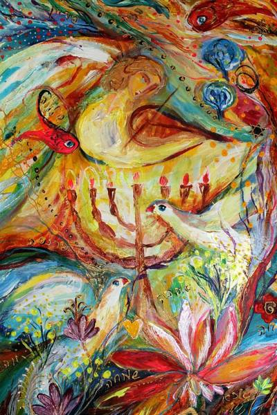 Kabbalistic Wall Art - Painting - Artwork Fragment 20 by Elena Kotliarker