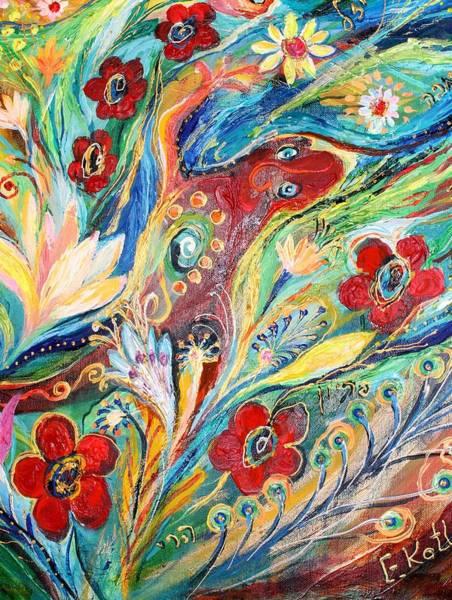 Wall Art - Painting - Artwork Fragment 22 by Elena Kotliarker