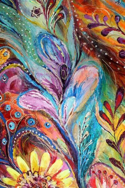 Gematria Wall Art - Painting - Artwork Fragment 36 by Elena Kotliarker