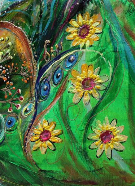 Gematria Wall Art - Painting - Artwork Fragment 61 by Elena Kotliarker