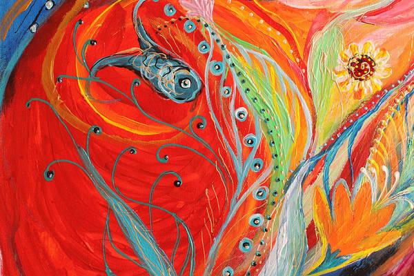 Wall Art - Painting - Artwork Fragment 62 by Elena Kotliarker