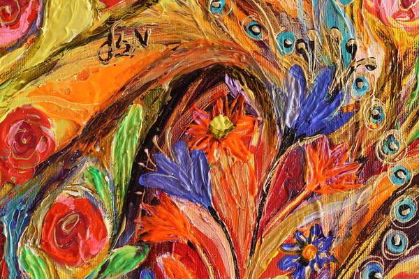 Gematria Wall Art - Painting - Artwork Fragment 70 by Elena Kotliarker