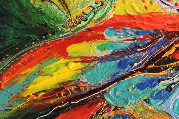 Gematria Wall Art - Painting - Artwork Fragment 73 by Elena Kotliarker