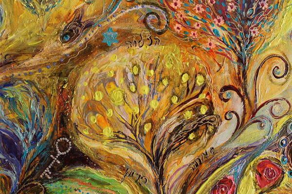 Wall Art - Painting - Artwork Fragment 74 by Elena Kotliarker