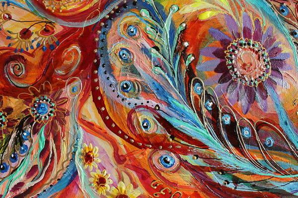 Wall Art - Painting - Artwork Fragment 76 by Elena Kotliarker