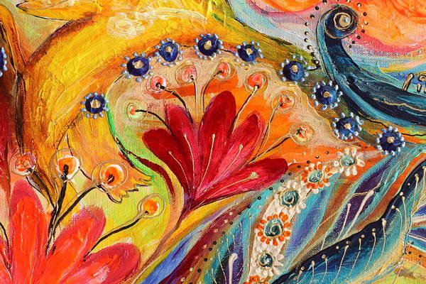 Gematria Wall Art - Painting - Artwork Fragment 86 by Elena Kotliarker