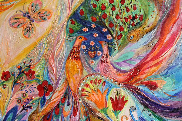 Gematria Wall Art - Painting - Artwork Fragment 89 by Elena Kotliarker