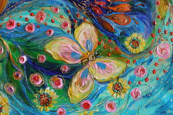 Gematria Wall Art - Painting - Artwork Fragment 95 by Elena Kotliarker