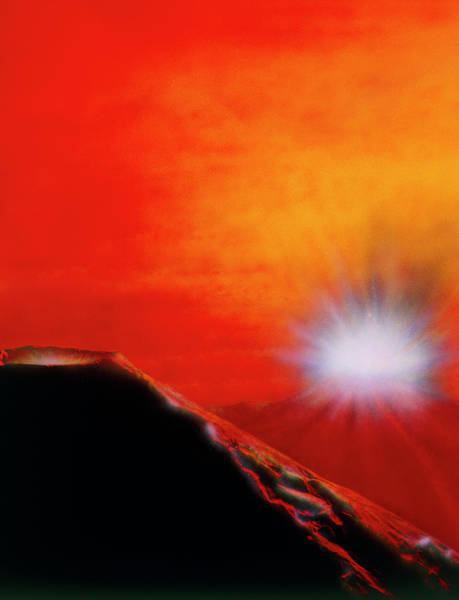 Wall Art - Photograph - Artwork Of A Volcanic Eruption by Julian Baum/science Photo Library