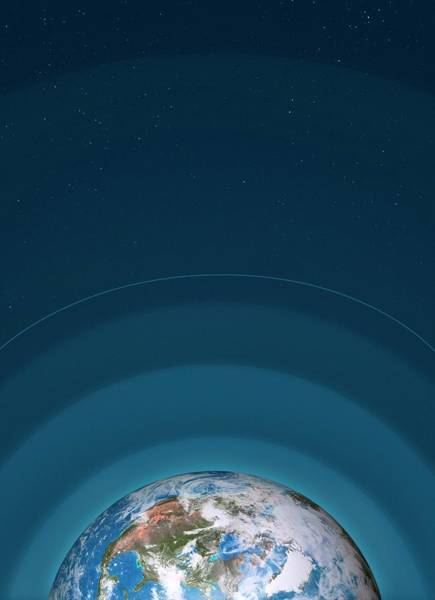 Mesosphere Photograph - Artwork Of Earth's Atmospheric Layers by Mark Garlick