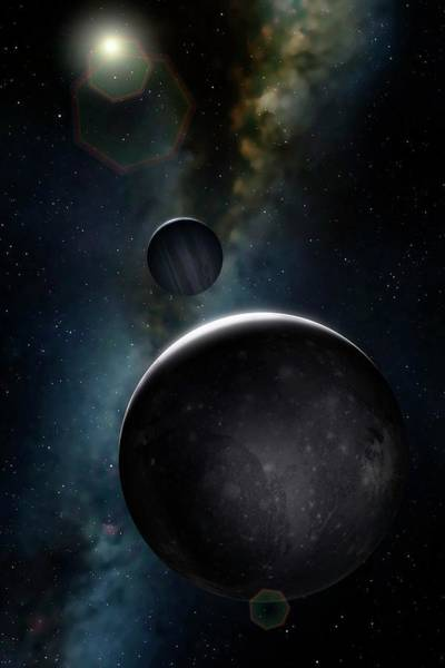 Chasm Photograph - Artwork Of Jovian Moon Ganymede by Mark Garlick/science Photo Library