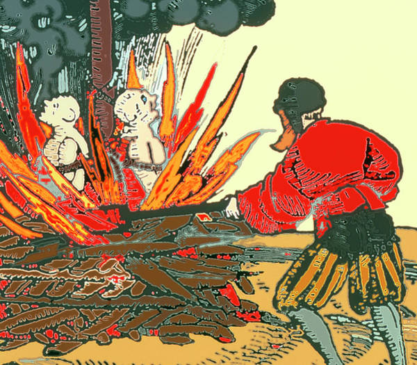 Woodcut Wall Art - Photograph - Artwork Of Medieval Plague-spreaders Being Burnt by Sheila Terry/science Photo Library