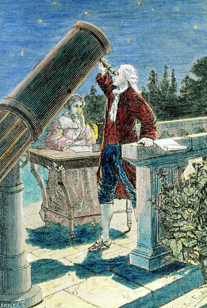 Astronomer Photograph - Artwork Of William And Caroline Herschel by Science Photo Library
