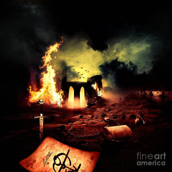 Burn Digital Art - Artwork Untitled No.77 by Geek N Rock