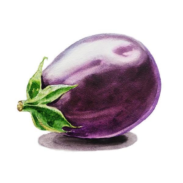 Tasty Painting - Artz Vitamins An Eggplant by Irina Sztukowski