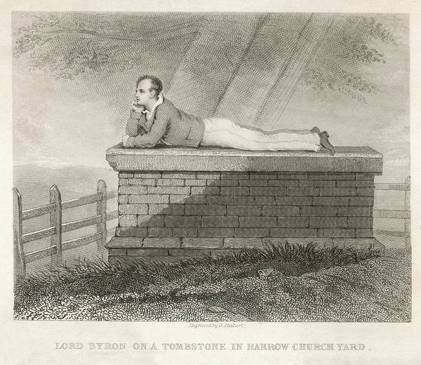 Wall Art - Drawing - As A Schoolboy At Harrow, His by Mary Evans Picture Library