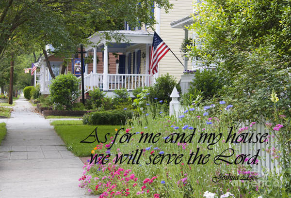 Photograph - As For Me And My House We Will Serve The Lord by Jill Lang
