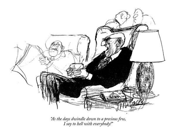 Senior Drawing - As The Days Dwindle Down To A Precious Few by Joseph Mirachi