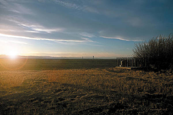 Lethbridge Photograph - As You Lie In Fields Of Gold by Terry Reynoldson