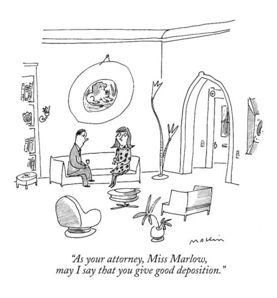 Wine Drawing - As Your Attorney by Michael Maslin