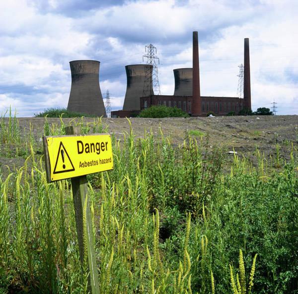 Asbestos Warning Sign Art Print