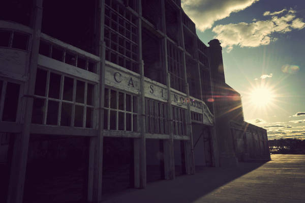 Photograph - Asbury Park Nj Casino Vintage by Terry DeLuco