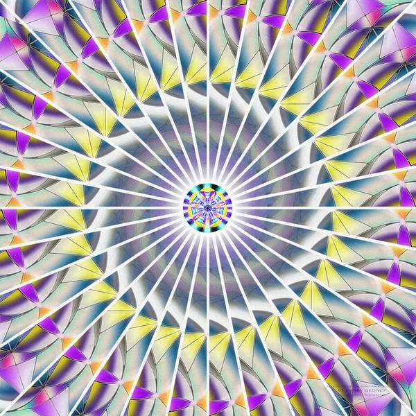 Homeopathy Drawing - Ascending Eye Of Spirit Kaleidoscope by Derek Gedney