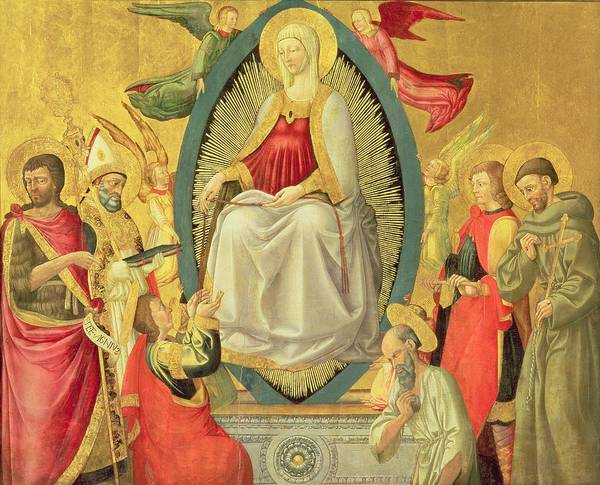 Ascension Painting - Ascension Of The Virgin, 1465 by Neri di Bicci