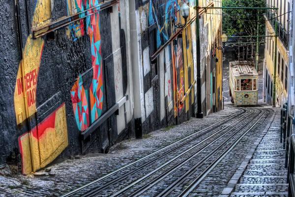 Street Scene Photograph - Ascensor Do Lavra Lisbon by Carol Japp