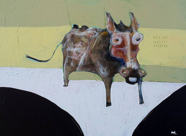 Donkey Painting - Asellus No.1 by Mark M  Mellon