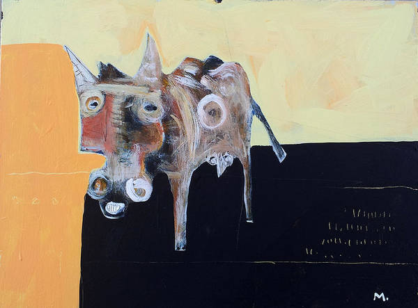 Donkey Painting - Asellus No.2 by Mark M  Mellon