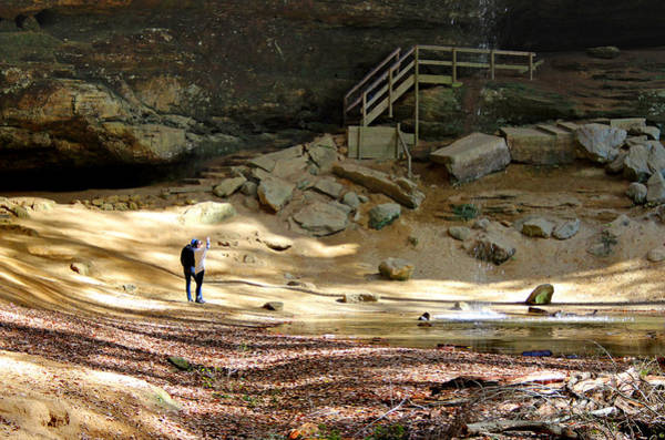Photograph - Ash Cave In Hocking Hills by Karen Adams