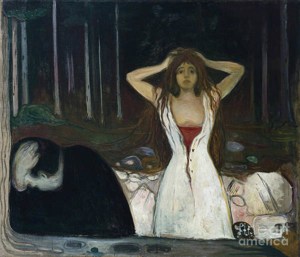 Ashes Painting - Ashes by Edvard Munch