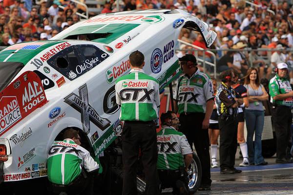 Photograph - Ashley Force Las Vegas Motor Speed Way Strip Nhra Finals 2008 by Gunter Nezhoda