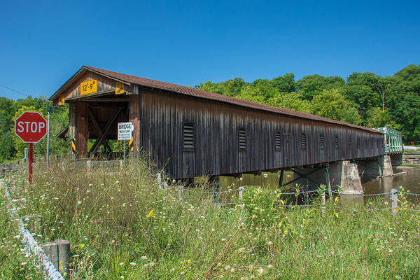 Photograph - Ashtabula Collection - Harpersfield Bridge 7k02065 by Guy Whiteley