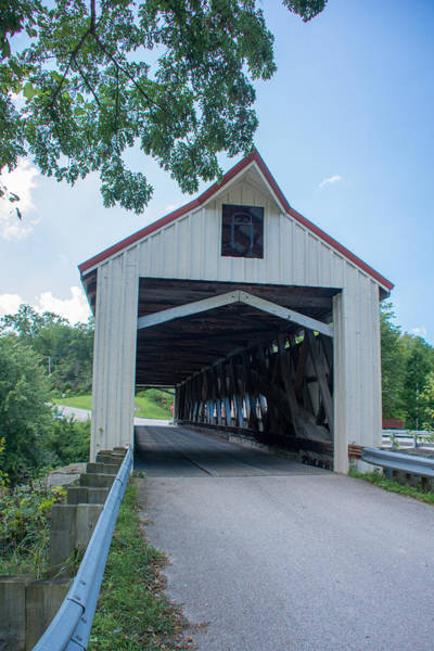 Photograph - Ashtabula Collection - Mechanicsville Road Covered Bridge 7k0207 by Guy Whiteley
