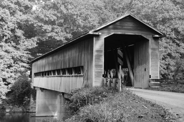 Photograph - Ashtabula Collection - Middle Road Covered Bridge 701960b by Guy Whiteley
