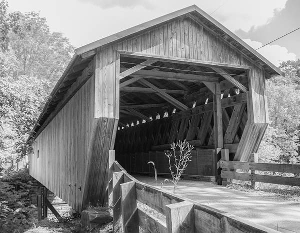 Photograph - Ashtabula Collection - Riverdale Road Covered Bridge  7k02082b by Guy Whiteley