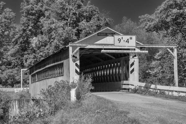 Photograph - Ashtabula Collection - Root Road Covered Bridge 7k02000b by Guy Whiteley
