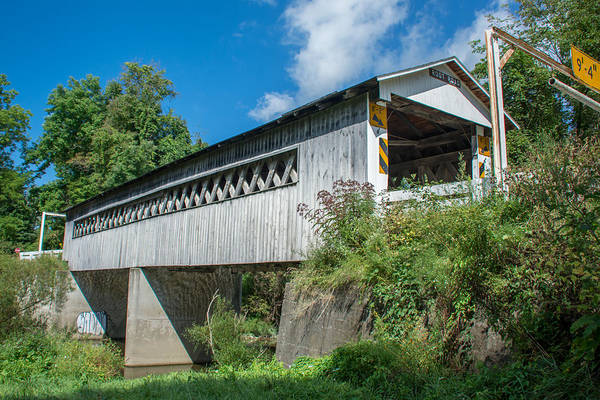 Photograph - Ashtabula Collection - Root Road Covered Bridge 7k02002 by Guy Whiteley
