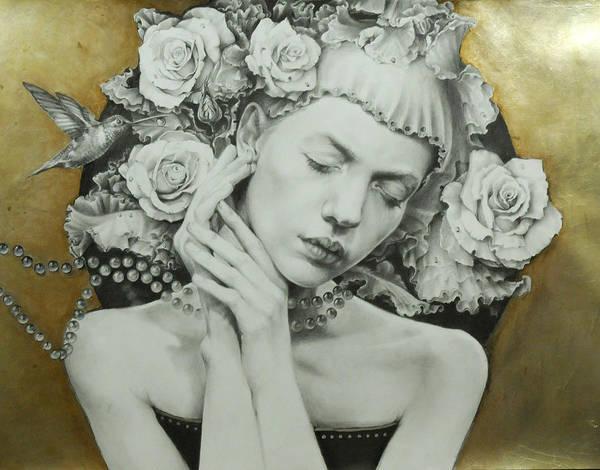 Wall Art - Drawing - Asia by Graszka Paulska