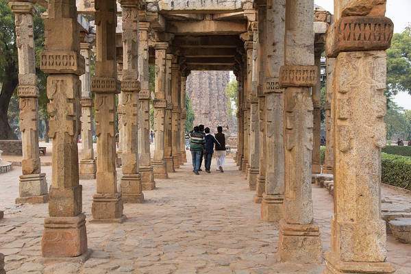 Colonnade Photograph - Asia, India Qutb Mosque, New Delhi by Emily Wilson
