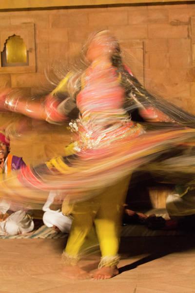Folk Dances Photograph - Asia, India, Rajasthan, Jaipur, Folk by Emily Wilson