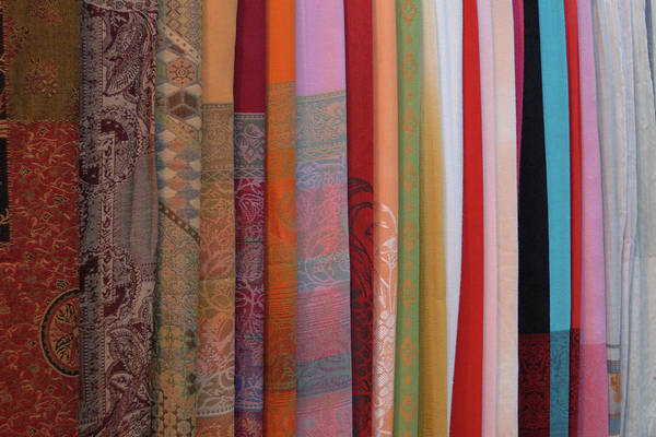 Hoi An Photograph - Asia, Vietnam Colorful Fabric For Sale by Kevin Oke