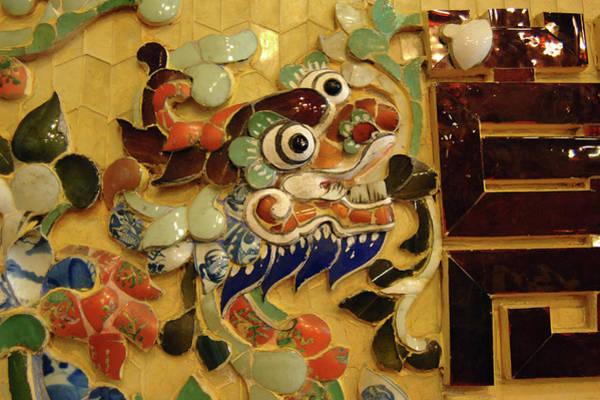 Southeast Asia Wall Art - Photograph - Asia, Vietnam Mosaic Naga, Khai Dinh by Kevin Oke