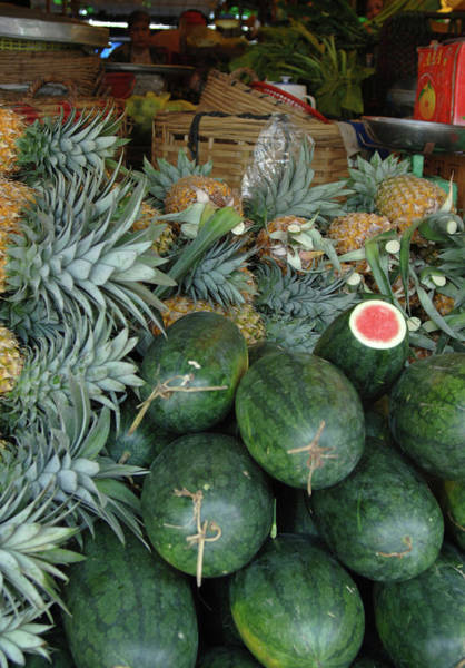 Southeast Asia Wall Art - Photograph - Asia, Vietnam Watermelons by Kevin Oke
